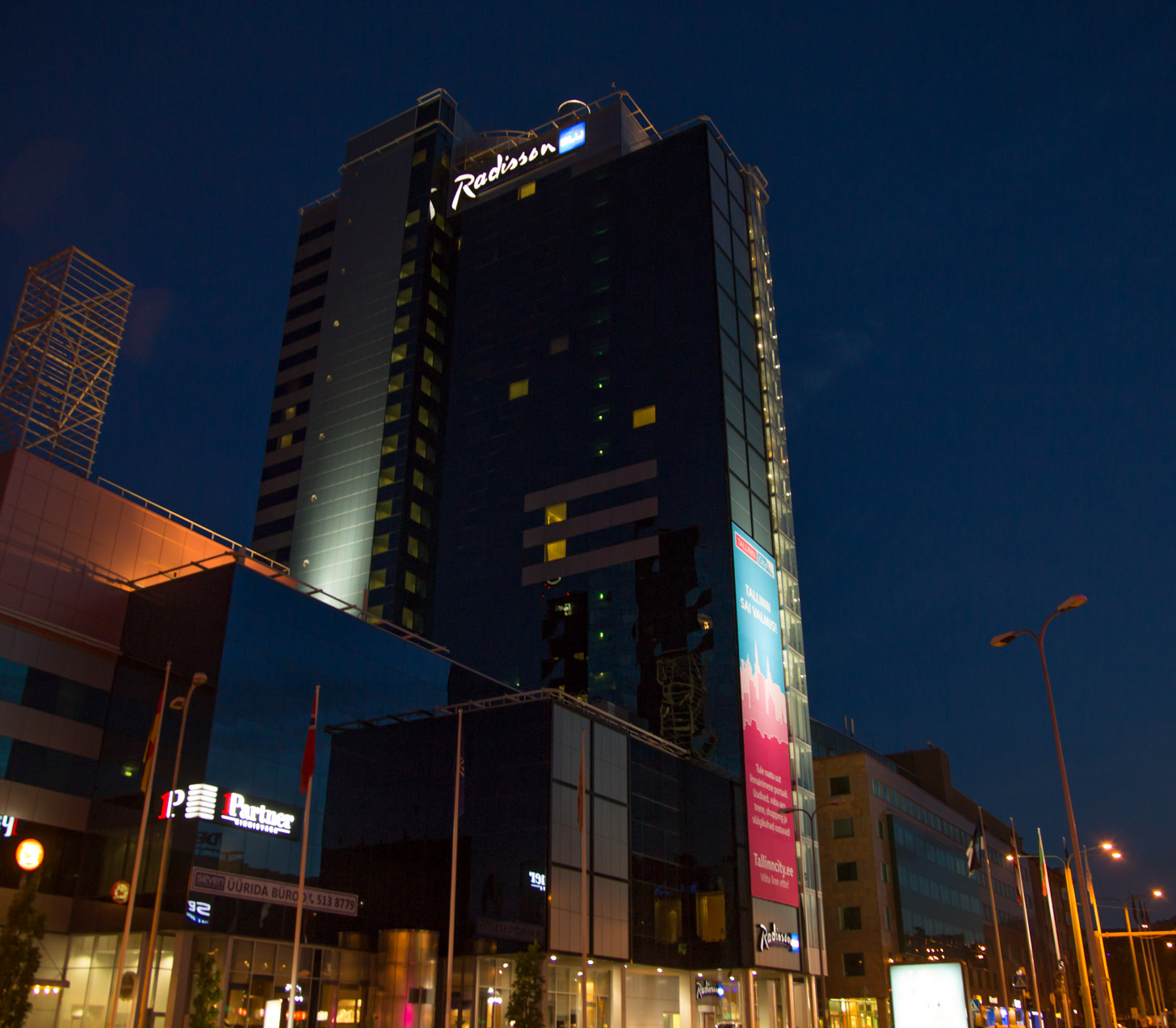 Het Radisson hotel in Tallinn
