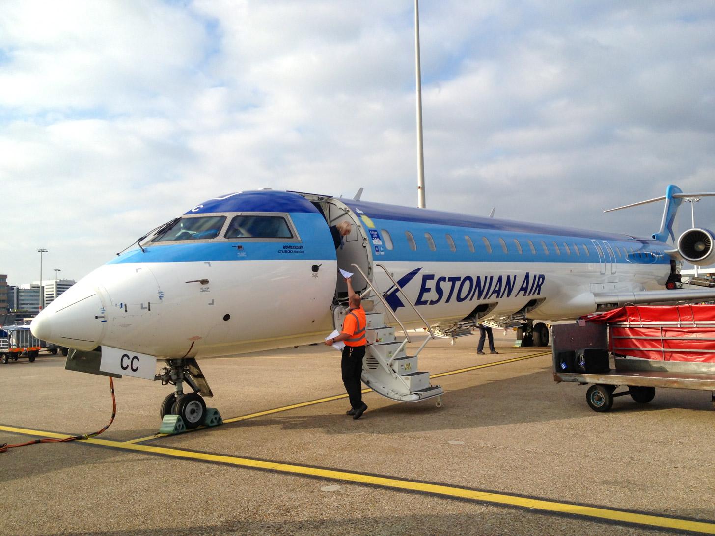 Vliegen naar Tallinn